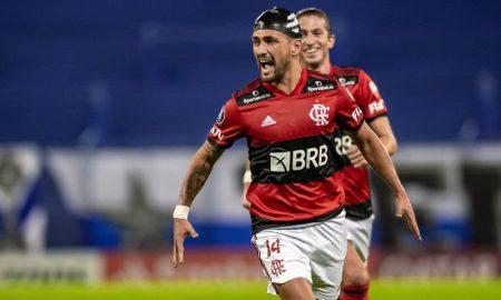 de Arrascaeta do Flamengo marca gol