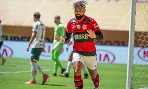Gabriel Barbosa Gabigol do Flamengo contra o Palmeiras