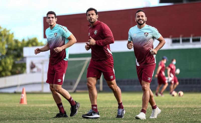 Nino, Fred e Yago Felipe do Fluminense