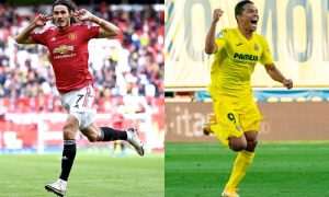 Bacca (Villarreal) e Cavani (United)