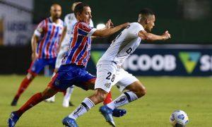 Bahia 3 x 0 Santos no Brasileirão 2021