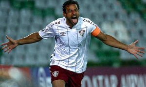 Fred, do Fluminense, na Libertadores