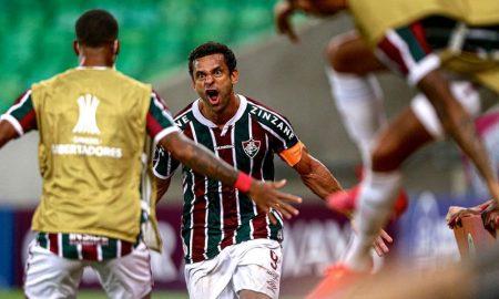 Fred, do Fluminense, na Libertadores