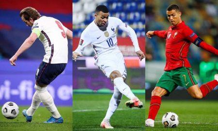 Harry Kane, Mbappé e Cristiano Ronaldo