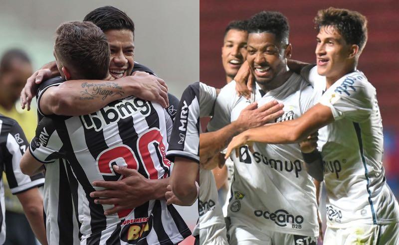 Hulk, do Atlético-MG, e Marinho, do Santos 3521