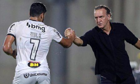 Hulk e Cuca em jogo da Libertadores