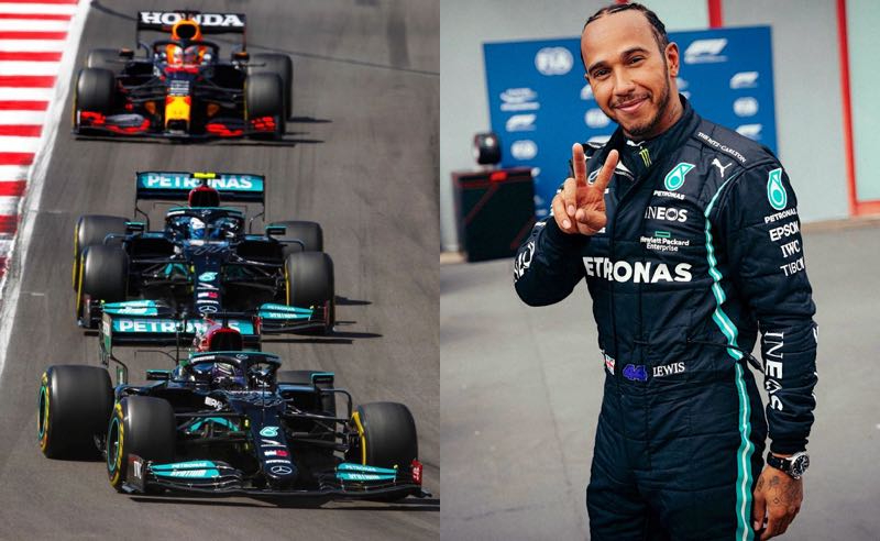 Lewis Hamilton no GP de Portugal 2021