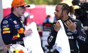 Max Verstappen e Lewis Hamilton na F1