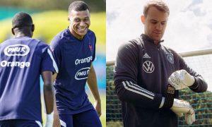 Mbappé (França) e Neuer (Alemanha)