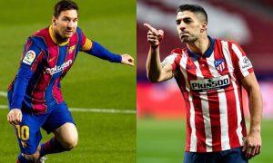 Messi (Barcelona) e Suárez (Atlético)