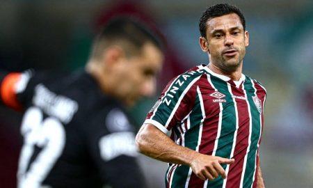 O atacante Fred na Libertadores 2021