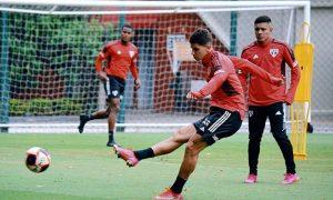 Treino do São Paulo para jogo da Libertadores