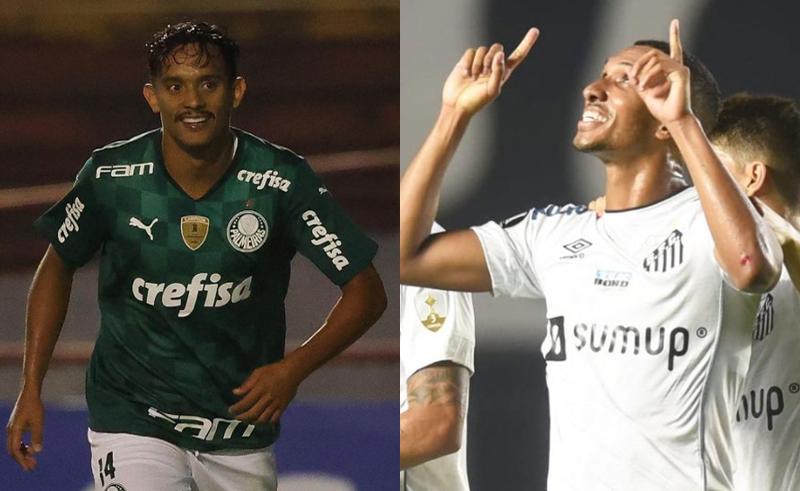 Gustavo Scarpa, do Palmeiras, e Alison, do Santos, vão se enfrentar no Paulistão 2021