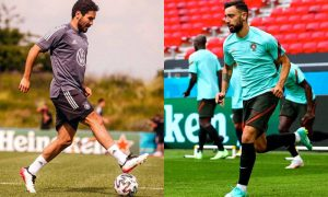 Gundogan, da Alemanha, e Bruno Fernandes, de Portugal, farão um dos duelos da partida deste sábado na Eurocopa 2021
