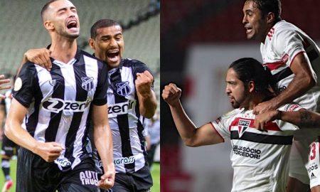 Lances dos jogos de Ceará e São Paulo na sexta rodada do Brasileirão 2021