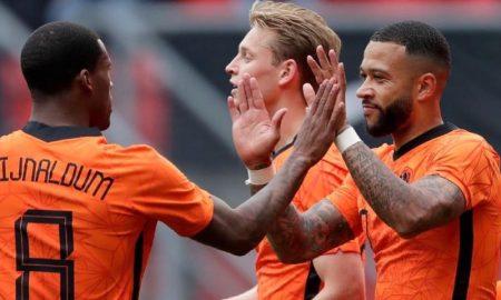 Comemoração da seleção da Holanda
