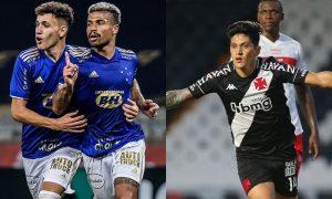 Cruzeiro e Vasco comemoram gols na Série B; as equipes agora se enfrentam na Segundona 2021