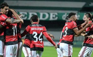 Flamengo comemora contra o Coritiba