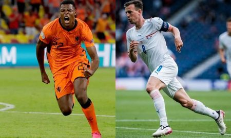 Dumfries, da Holanda, e Darida, da República Tcheca, na Eurocopa 2021