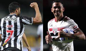 Hulk (Atlético) e Luciano (São Paulo)