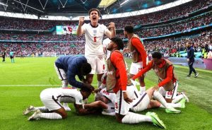 Festa em Londres: Inglaterra 2 x 0 Alemanha em Wembley pela Eurocopa 2021