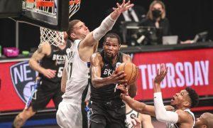 Kevin Durant na partida Nets x Bucks