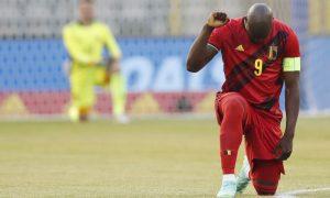 Lukaku antes do jogo Bélgica x Grécia