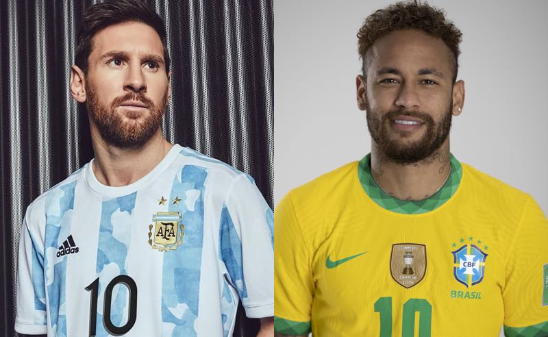 Messi (Argentina) x Neymar (Brasil)