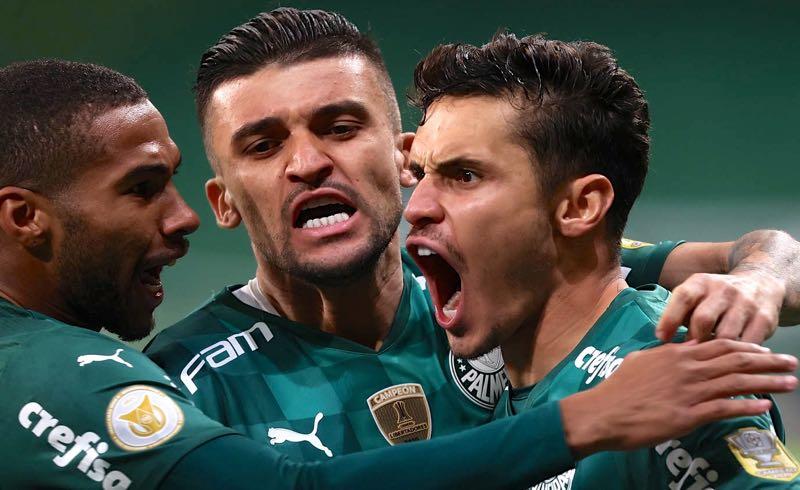 O gol do Palmeiras no dérbi paulista no Brasileirão