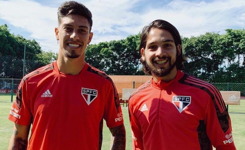 Rigoni e Benítez, meias do São Paulo