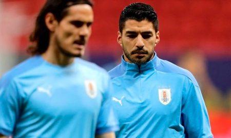 Os atacantes Suárez e Cavani, destaques do Uruguai na Copa América 2021