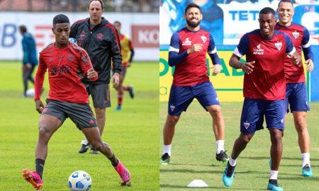 Treinamentos de Flamengo e Fortaleza: as equipes medem forças na sexta rodada do Brasileirão 2021