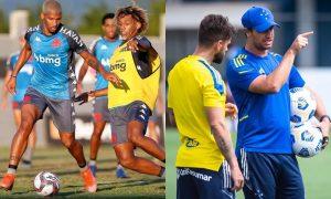 Treinamentos do Vasco e do Cruzeiro