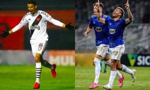 Vasco e Cruzeiro em ação na Série B