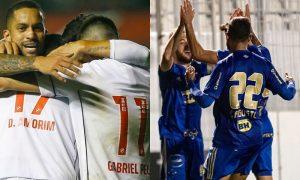 Vasco e Cruzeiro festejam gols em jogos da Série B 2021: as equipes voltam a campo neste fim de semana pela Segundona