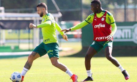 Zé Rafael e Patrick de Paula em treino 362021
