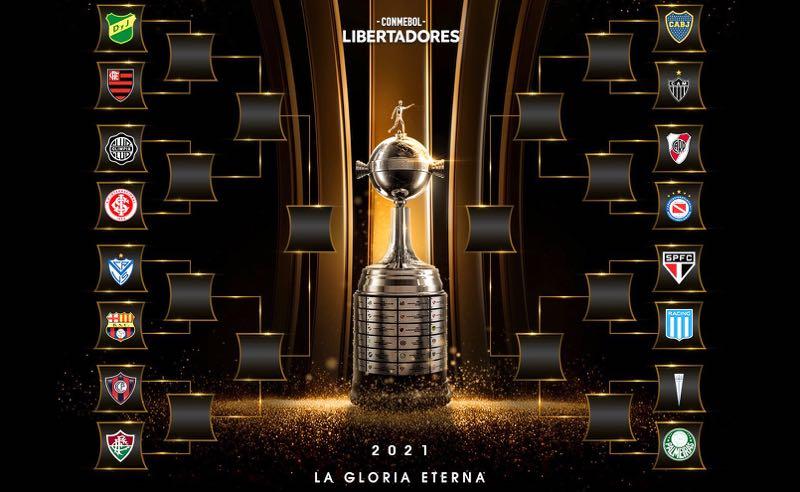 A chave do mata-mata da Libertadores