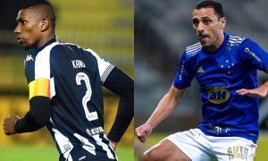 Kanu, do Botafogo, e Rômulo, do Cruzeiro, na Série B 2021