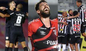 Red Bull Bragantino, Athletico-PR e Atlético-MG em jogos do Brasileirão 2021