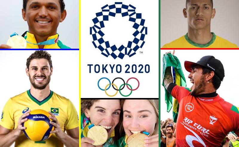 Entre os brasileiros favoritos a uma medalha em Tóquio 2020 estão Isaquías Queiroz, o vôlei e o futebol masculinos, o surfista Gabriel Medina e o iatismo