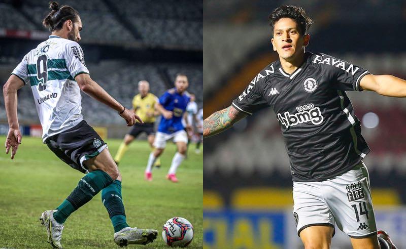 Léo Gamalho, do Coritiba, e Germán Cano, do Vasco, na Série B do Brasileirão 2021