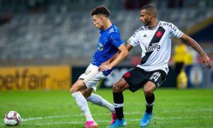 Lance de Cruzeiro x Vasco pela Série B do Brasileirão 2021, no Mineirão