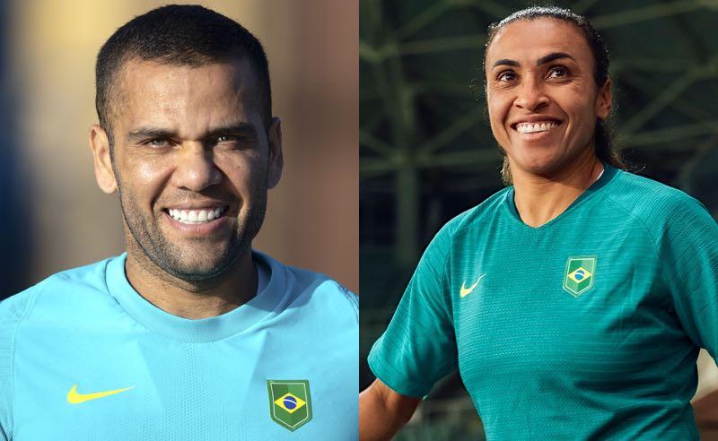 Daniel Alves e Marta, destaques das seleções olímpicas de futebol do Brasil em Tóquio 2020