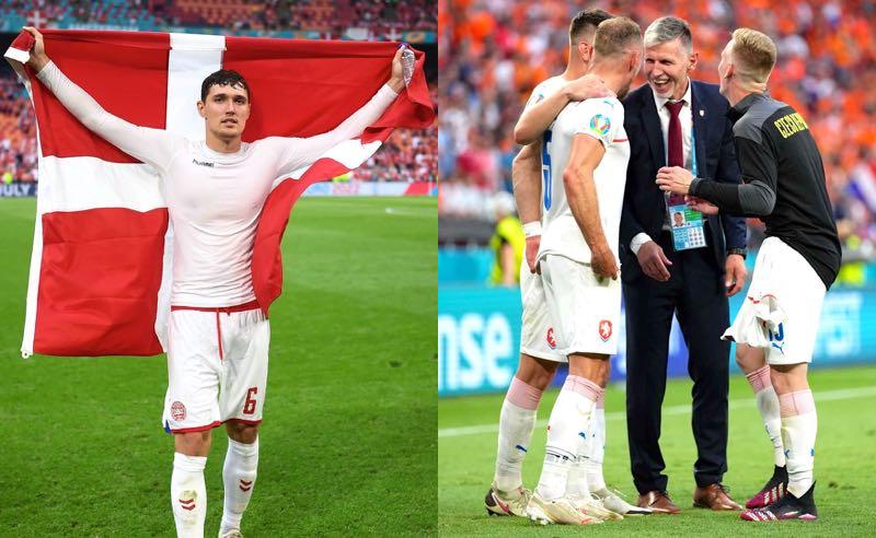 Dinamarca e República Tcheca comemoram classificação nas quartas da Eurocopa 2021