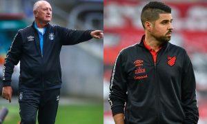 Sul-Americana 2021: os técnicos Felipão (Grêmio) e António Oliveira (Athletico-PR)