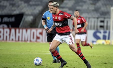 O atacante Pedro em Flamengo x Atlético-MG no Brasileirão 2021