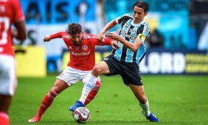 Grêmio x Internacional na grande final do Gauchão 2021, na Arena do Grêmio