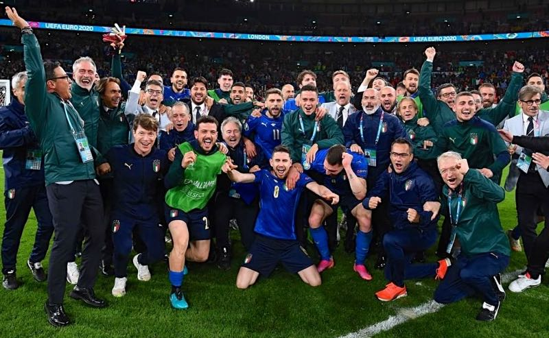 Itália comemora classificação à final da Eurocopa 2021 em Wembley