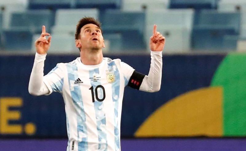 Lionel Messi, da Argentina, no jogo contra a Bolívia na Copa América 2021