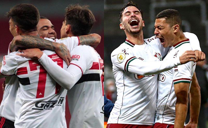 São Paulo e Fluminense em jogos do Brasileirão 2021